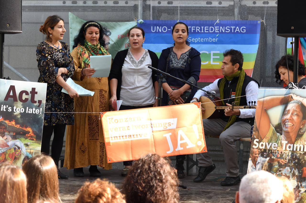 Die kurdische Musikgruppe Akin sorgte für friedliche Stimmung