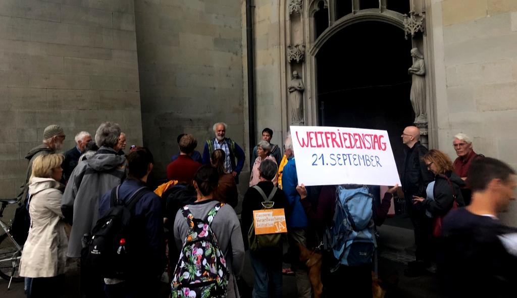 UNO-Weltfriedenstag  21. Sept 2018: Friedensrundgang in Zürich