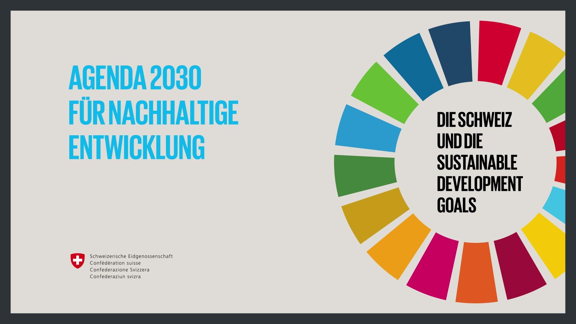 Die Agenda 2030 der UNO bringt eine Chance für eine schweizerische Friedens- statt Sicherheitspolitik